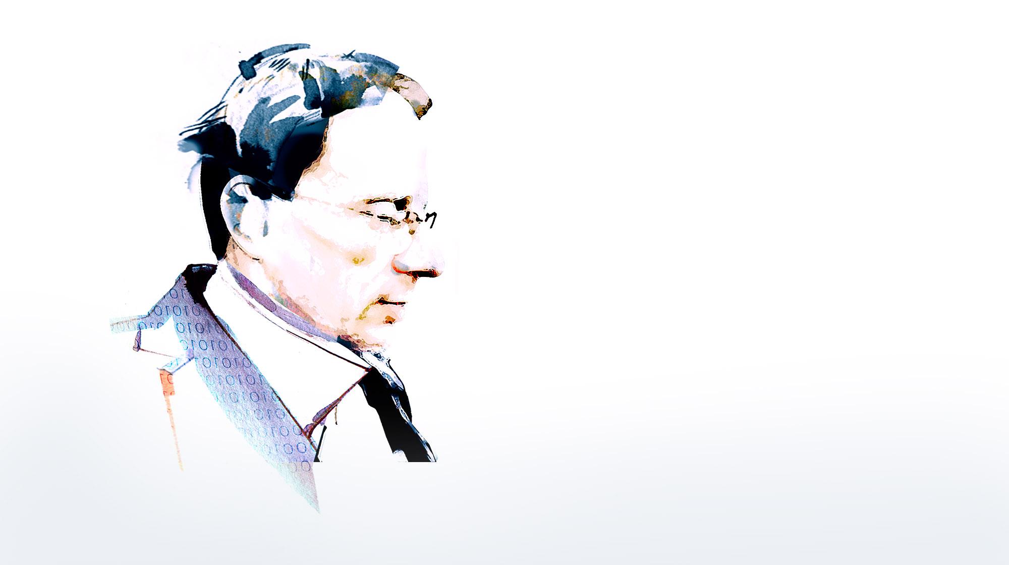 Illustratives Portrait eines Unternehmensberaters